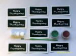 Thanksgiving word glitter tattoo set including 20 stencils + 2 glitter colors + glue    Great for Fundraising